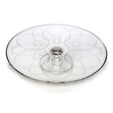 """WATERFORD BALLET ICING Crystal 12""""  footed CAKE PLATE  NEW / BOX"""