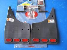 Jeu de bavettes arrière avec catadioptres R-B pour Opel Corsa 03/93-