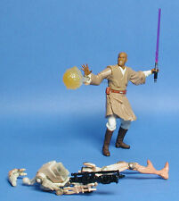 STAR WARS SAGA AOTC MACE WINDU & BATTLE DROID ARENA BATTLE LOOSE COMPLETE