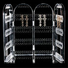 Acrylic Clear Jewellery Ear Studs Earring Display Stand Holder Folded Show Rack