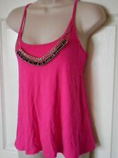 NWT BEBE JESSIE CHAIN NECKLACE BACK CUT OUT TANK TOP SIZE XS PINK + MORE COL AVL