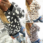 Damen Pullover Pulli Tunika Shirt Fleece Sweater Longshirt Winter Warmer Bluse