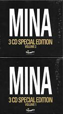 "MINA - RARO 2 BOX 6 CD CELOPHANATO "" 3 CD SPECIAL EDITION VOL.1 e VOL.2 """