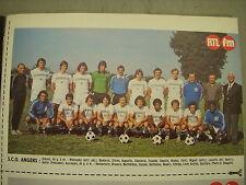 FOOTBALL COUPURE PRESSE PHOTO COULEUR 21x13cm SCO ANGERS 1976 1977
