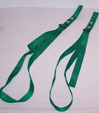 Green Adjustable Boat Fender Bumper Straps Pair New Docking Utility Made in USA