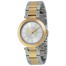 DKNY Stanhope Silver and Gray Sunray Crystal Dial Two-tone Ladies Watch NY2334