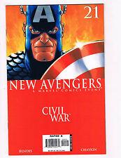 New Avengers #21 NM Marvel Comics Civil War Comic Book 2006 DE28