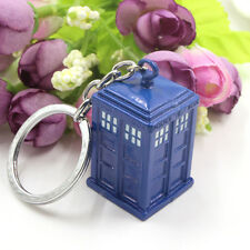 1pcs DocTor Who A Telephone Booth 3D Blue KeyChain Underground Toys