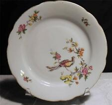 KAHLA KHL3 SALAD PLATE MULTICOLOR BIRD TREES GOLD BAND GDR EAST GERMAN