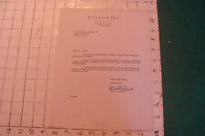vintage letter: CALGON INC 1949 about Banox, signed Chas T Roland