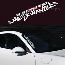 (1) JDM English White Need For Speed Scratch Car Auto Decal Vinyl Sticker