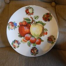 Vintage Collector Plate With Pretty Fruit Design