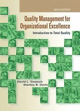 Quality Management for Organizational Excellence : Introduction to Total...
