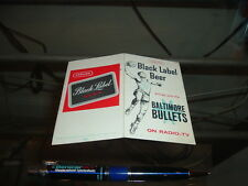 1963 -64 Baltimore Bullets Basketball Pocket Schedule 1st Year Black Label Beer