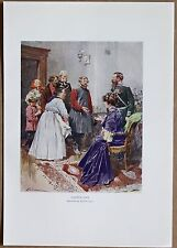 RUSSIA: Easter Day - presenting Easter eggs; color plate, 1913 (#10)