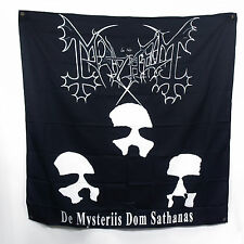 "Authentic MAYHEM Band Deathlike Silence Mysteriis Fabric Poster Flag 48""x48"" NEW"