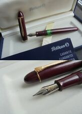 PELIKAN 140 GUNTHER WAGNER PENNA STILOGRAFICA BORDEAUX +GAR +BOX Fountain Pen