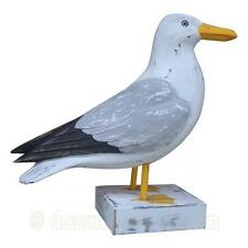 Wooden Seagull Ornament - Seashore Bird Wood Carving - Bird Watchers Gift - Gull