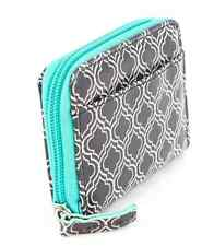Madison Spencer NWT B&W Lattice Geometric Print Zip Around Card Case Mini Wallet