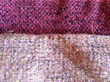 HUGE LOT OF VINTAGE RUG HOOKING WOOL TEXTURED FABRIC WASHED