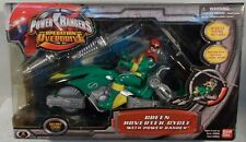 Power Rangers Operation Overdrive - Green Hovertek Cycle With Green Ranger MISB