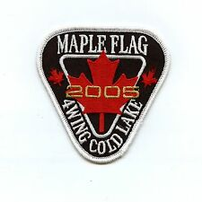 RCAF CAF Canadian 4 Wing Cold Lake 2005 Maple Flag Colour Crest Patch