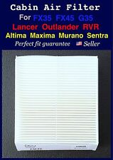 For 07-16 Outlander Lancer RVR Altima Maxima FX35 FX45 G35 Cabin Air Filter