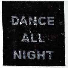 Black and Silver Sequin Patch: (Flippable) Dance All Night / Sleep All Day Long