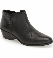SAM EDELMAN SALE Petty Chelsea Ankle Boots Bootie Black Pebble Soft Leather 5M