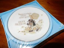 """Holly Hobbie 4"""" Plate  Happiness is having a friend .....Happy Birthday """"Sealed"""