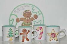 Set of 4 Rosanna Christmas Gingerbread Cookies For Santa Mugs in Decorative Box