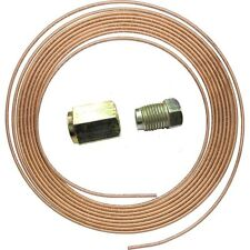"COPPER BRAKE PIPE HOSE LINE 3/16"" X 25 FT 22G C/W 20 UNF NUTS"
