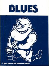 1982 Carlton Blues Football Club Sticker Decal