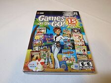 Games on the Go (PC, 2010) PC DVD ROM game NOS Premium 15 pack games VIVA Every1