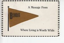Brown Felt Pennant A Message from Bemidji MN Minn