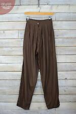 Vintage Brown High Waisted Harem Pants Trousers (XS/S) (6/8/10)