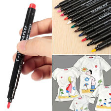 RED Permanent Fabric Paint Pen Fine Nib Marker T-Shirt Shoes DIY Graffiti
