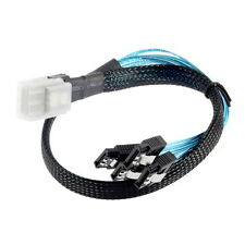 Mini SAS 4i SFF-8087 36-Pin Male to 4 SATA 7-Pin Splitter Adapter Cable 0.5M UF
