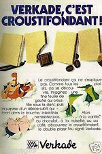 Publicité advertising 1982 Les Biscuits Gaufrettes Verkade