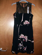 BNWT FCUK French Connection ASOS Black Flowers Mesh Panel Cocktail Dress Size 8