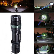 6000 Lumen Zoomable CREE XM-L Q5 LED Flashlight Torch Zoom Lamp Light Black New