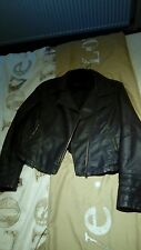 River island faux leather jacket brown 14