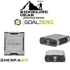 GOAL ZERO Sherpa 50 Power Pack Recharger Solar Ready for Laptop,Tablet,Camera, +