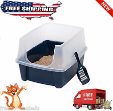 Cat Litter Box Open Top With Shield Include Scoop kitty Kitten FREE SHIPPING!!
