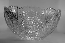 Vintage Cut Crystal Punch Bowl Turkish Glass