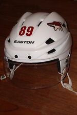 ARIZONA COYOTES Mikkel Boedker game-worn white Easton helmet from 2014-15 season