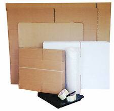 "41 New Cardboard Box House Medium Mixed Removal Packing Kit with 24"" LCD TV Box"