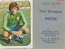 JOSE MANUEL FERNANDEZ NIEVES # ESPANA REAL ZARAGOZA CARD TARJETA ESTE LIGA 1977