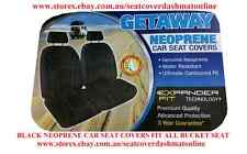 PAIR NEOPRENE CAR SEAT COVERS WITH WHITE STITCH FIT FORD COURIER BUCKET SEAT