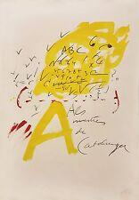 """ANTONI TAPIES """"UNTITLED"""" (ALS MESTRES DE CATALUNYA) 1974    HAND SIGNED PRINT"""